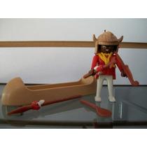 Indio Con Canoa Playmobil