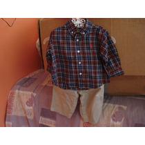 Conjunto Pantalon/ Camisa Mang Larga Ralph Laurent 6-9 Meses