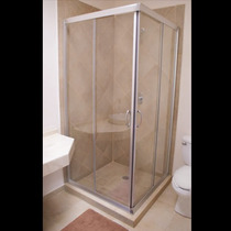 Cancel Regadera Baño Vidrio Templado Cubo 6mm Fn4