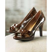 Zapatos Cafes Estilo Carey Con Plataforma Hwo