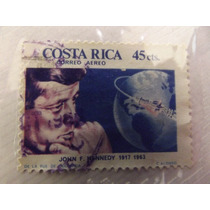 Sello Postal Costa Rica 1963 Kennedy Mn4