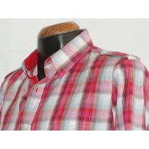 Camisa Cuadros Marca Panino M/l Alg 100% Mod 5910-9 Nvb