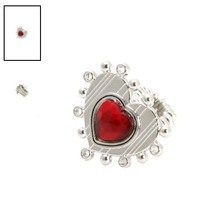 Hot Topic Anillo Alice In Wonderland Red Queen Heart Ring