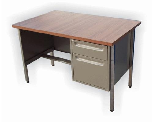 Escritorio secretarial 70 x con cajones metalico en for Escritorio oficina precio