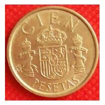 100 Pesetas 1990 España Rey Juan Carlos I Escudo Armas - Hm4