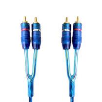 Cable Imac Chapeado Oro 2 Machos Rca Azul 6 Metros