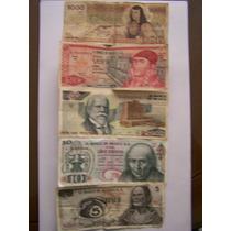 Se Venden 5 Billetes De 1000,20,2000,10 Y 5 Pesos