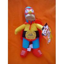 Homero Simpson Luchador De 40 Cms De La Wwe O Aaa Lo Querria