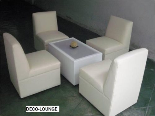 Maa Sala Lounge 4 Sillones Individuales Y Mesa