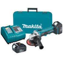 Esmeriladora Angular Makita Bga452 Kit Bateria Cargador Hm4