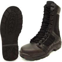 Bota Swat Negra Táctica Ligera Para Comando Militar Garantia