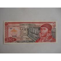 Billetes Antiguos $20 Pesos. Morelos.año 1972. Sin Circular.