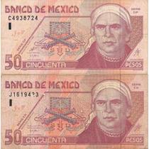 Billete De 50 Pesos Morelos De Papel
