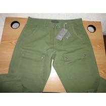 Pantalon Christian Audigier Verde Talla 34 100% Original