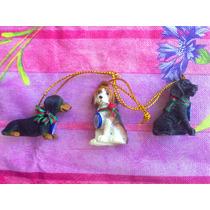 Lote De 3 Figuras Miniaturas De Diferentes Razas De Perros