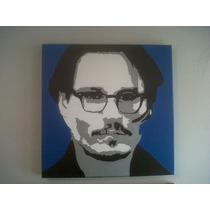 Johnny Depp Pintura Cuadro Oleo Pop Art