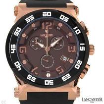 Reloj Lancaster Italiano, Cronógrafo Acero Poliuretano D Sp0