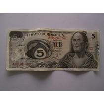 Se Venden 6 Billetes De 5 Pesos De La Corregidora