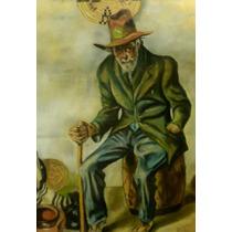 * Abuelo De Santiago* Sentado En Bombo * Signed Leon 81