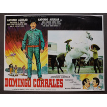 Antonio Aguilar Domingo Corrales Original Cartel De Cine
