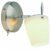 Lampara Para Pared - 1 Luz - Con Apagador Manual - Foco G9