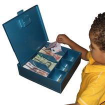 Caja De Dinero Con Chapa Sistema De Resortes Sujetabilletes