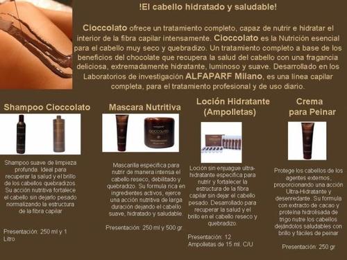 Shampoo Chocolate Para Cabello Seco By Alfaparf Cioccolate -   510 ... 60ecb6a5fcd5