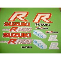 Kit De Calcomanias Para Moto Suzuki Gsx-r1100 Año 86