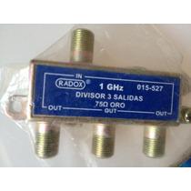 Repartidor De Señal Cable O Antena Para Tres Televisores