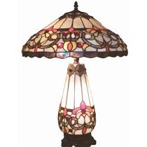 Preciosa Lámpara Para Mesa De La Línea Tiffany