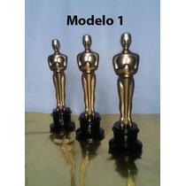 Estatuilla Premio Oscar Con Base De Madera