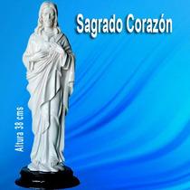 Sagrado Corazon De Jesus Figura Escultura Marmol Recuerdo