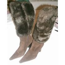 Lob Footwear ***bota Gamuza Con Peluche Numero 23***