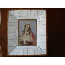 Cuadro Antiguo Sagrado Corazón