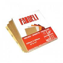 Lija Para Madera Grano 80 Fandeli Caja Con 50 Piezas.