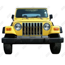 Jeep Wrangler Insertos De Parrilla Excelente Cromo Sp0