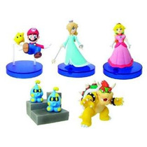 Set D 5 Figuras Nintendo Súper Mario Bros Galaxy D Tomy Hm4