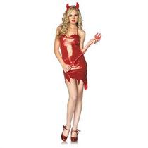 Leg Avenue Disfraz Diabla Vestido Rojo Sexy Hwo