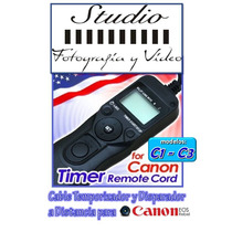 Timer Remote Shutter Cord For Canon 10d, 20d, 30d, 40d Y 50d