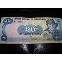 Billete Nicaragua 1985 20 Cordobas Mn4