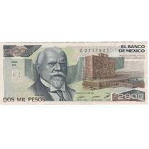 Super Ganga, Billetes $ 2,000 Pesos Justo Sierra.