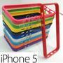Funda Bumper Para Iphone 5 + Mica Para Pantalla Apple !!!!!!