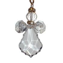 Recuerdo Angelito Cristal Paquete 10 Llavero Oro Plata Angel