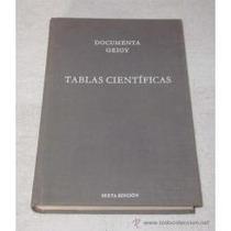 Libro Tablas Científicas Sexta Edición.