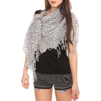 Hot Topic Bufanda Estrellas Blanco Y Negro