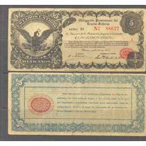 Si-df-2 Billete Del Distrito Federal De 5 Pesos