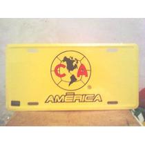 Placa Del America Original Lamina Resistente Al Interperie