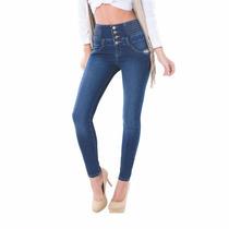 Jeans Pretina Ancha Cintura Alta Seven Eleven Skinny