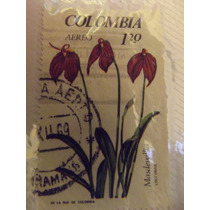 Timbre Postal Orquideas Colombia 1967 Mn4