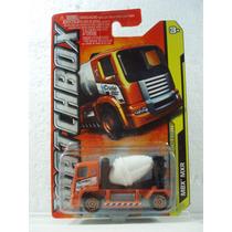 Matchbox Camion Revolvedora Construccion Naranja 1:64 40/120
